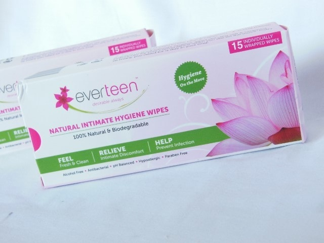 Everteen Natural Intimate Hygiene Wipes Packaging
