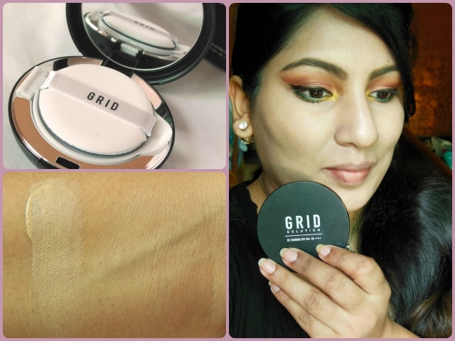 Grid Solution CC Cushion SPF50+ FOTD