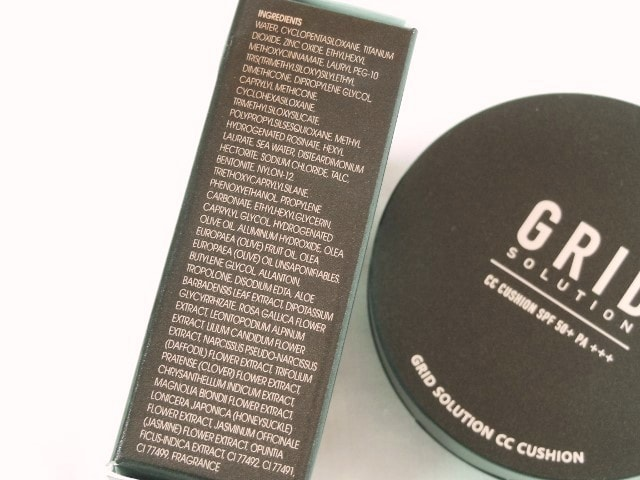Grid Solution CC Cushion SPF50 Ingredients
