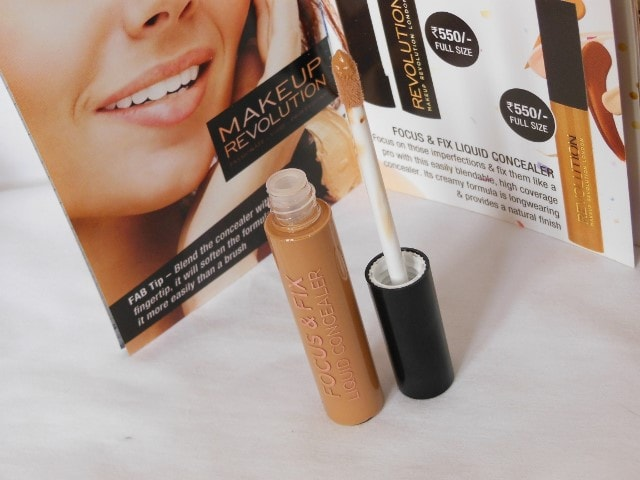 Makeup Revolution Focus & Fix Liquid Concealer Packaging
