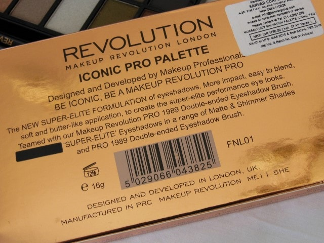 Makeup Revolution London Iconic Pro 2 Palette Clai,s