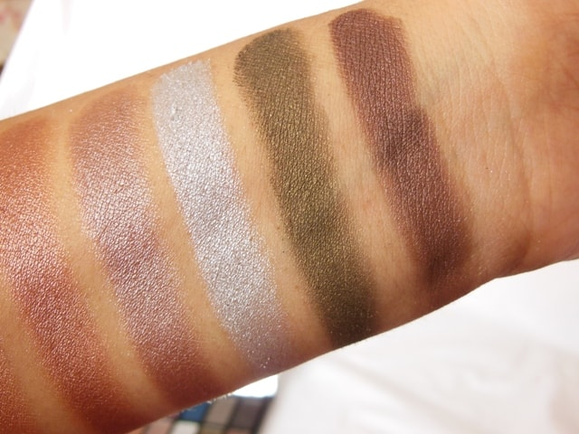 Makeup Revolution London Iconic Pro 2 Palette Row 2 Dark Shades Swatch