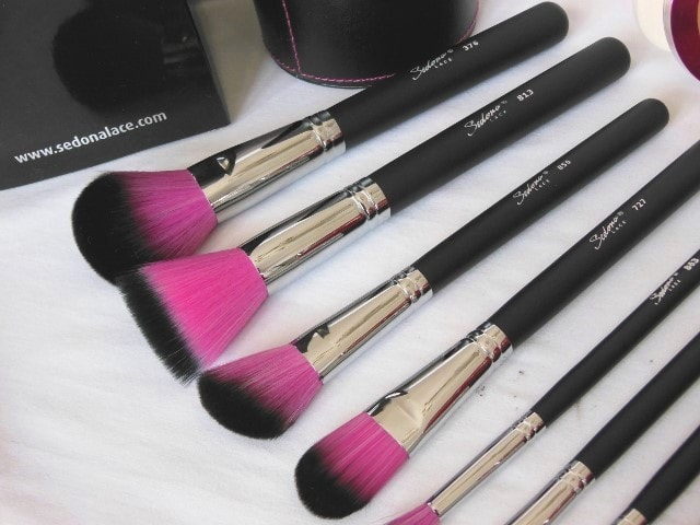 Sedona Lace 12 Piece Synthetic Professional brush Set - Face Brushes