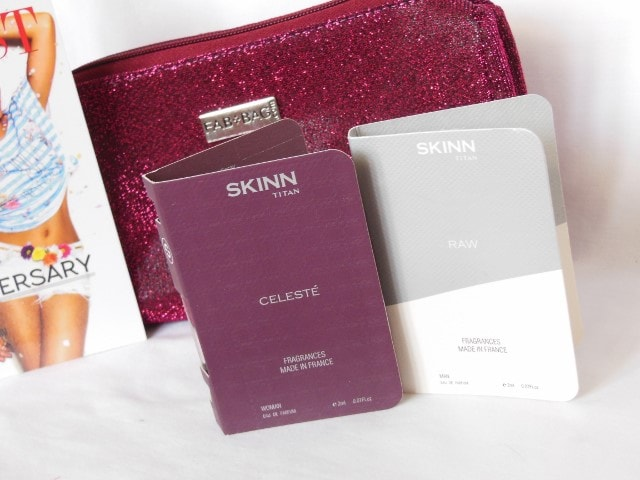 September Fab Bag 2015 - Skinn Tata Celeste and Raw perfume Vials
