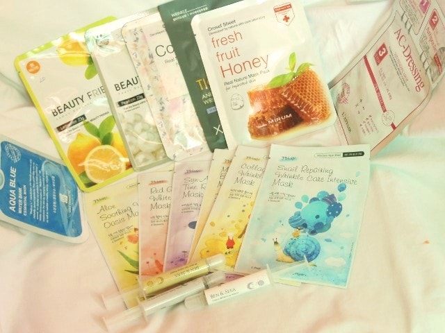 Skin18.com face Mask Sheets and Serum Injections