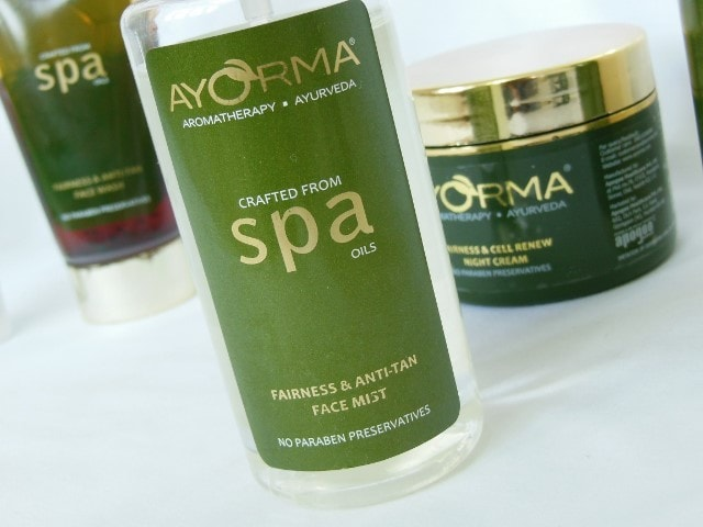 Ayorma Spa Fairness and Anti-tan Face Mist Review