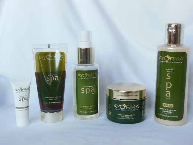 Ayorma Spa Skin Care Range