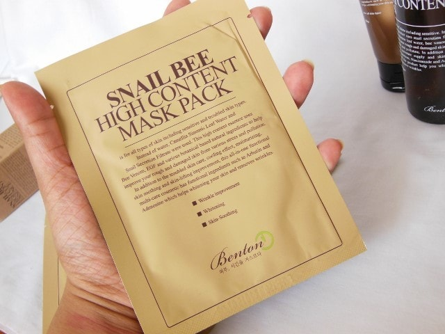 Benton Snail Bee High Content Mask Pack Review