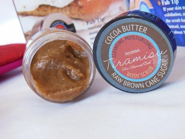 October Fab Bag 2015 -Nyassa Tiramisu Cane Sugar Scrub