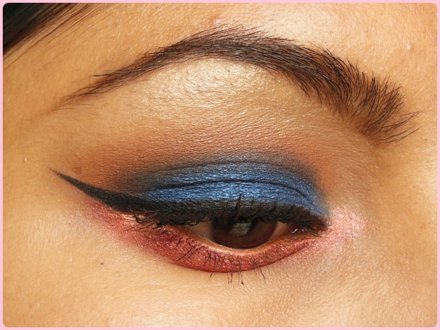 Blue and Pink Eye Look