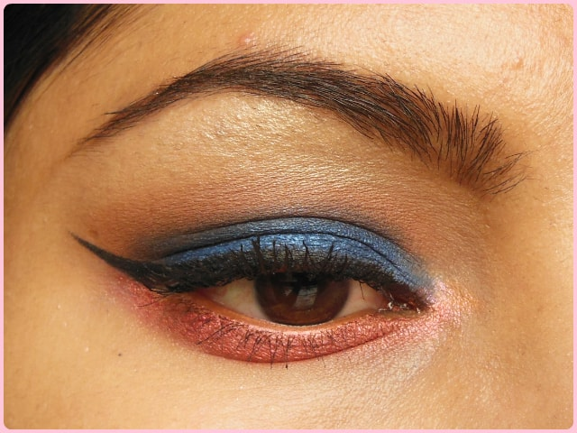 Blue and Pink Eye Makeup