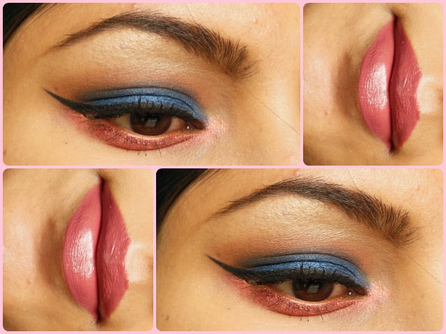Blue and Pink Eyes ad Rosey Lips