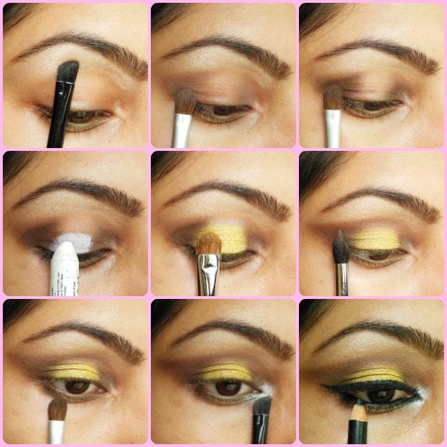 Bronze and Yellow Eyes Eye Makeup Tutorial