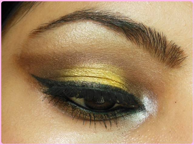 Bronze and Yellow Eyes Look