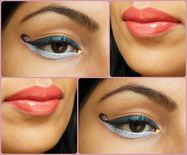Curved Cat Eye Liner Makeup