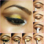 Eye Makeup Tutorial - Bronze and Yellow Eyes