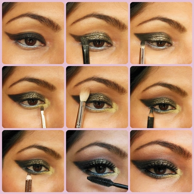 Eye-Makeup-Tutorial-Glittery-Black-Smokey-Eye-Look