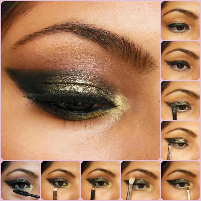 Eye Makeup Tutorial Glittery Black Smokey Eyes Beauty Fashion