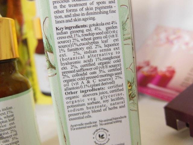 Just Herbs Rejuvenating Beauty Elixir Facial Serum Ingredients