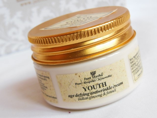 Just Herbs Youth Age Defying Anti-wrinkle Cream Review