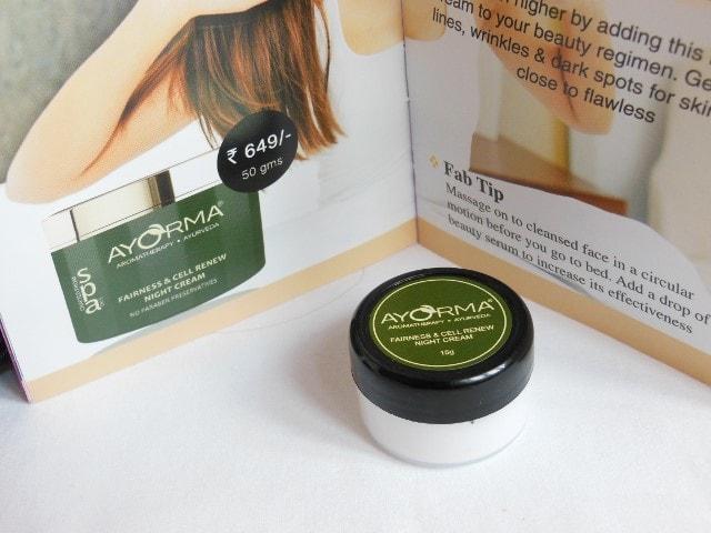 November Fab Bag - Ayorma Fairness and Cell Renewal Night Cream