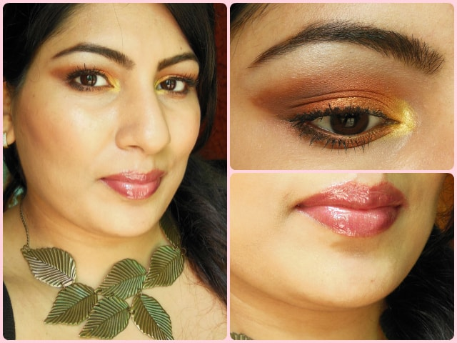 What Am I Wearing Today - Warm Copper Smokey Eyes and glossy pink lip
