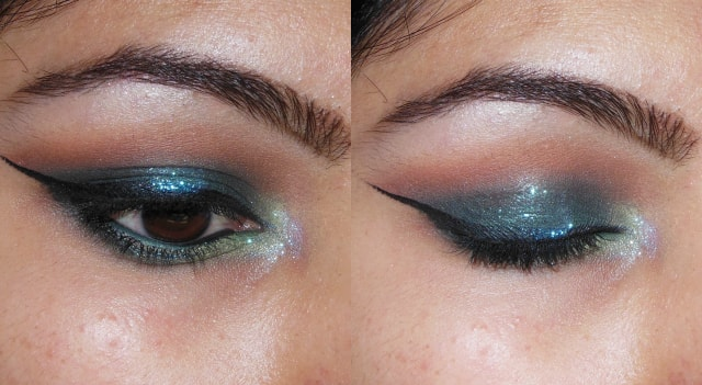 Blue Lights Eye Makeup with Flash