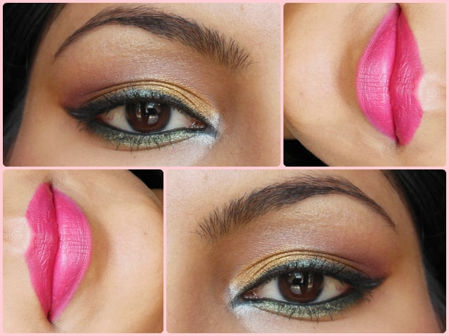 Engagement Makeup - Golden Eyes and Pink Lips