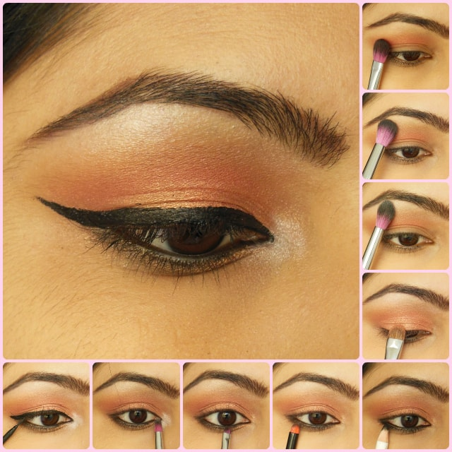 Eye Makeup Tutorial Party Perfect Rose Gold Eyes Beauty Fashion