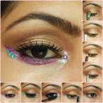Eye Makeup Tutorial - Warm Brown eyes with Pop of Pink