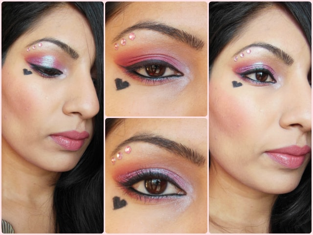 Glittery Pink Eye Look