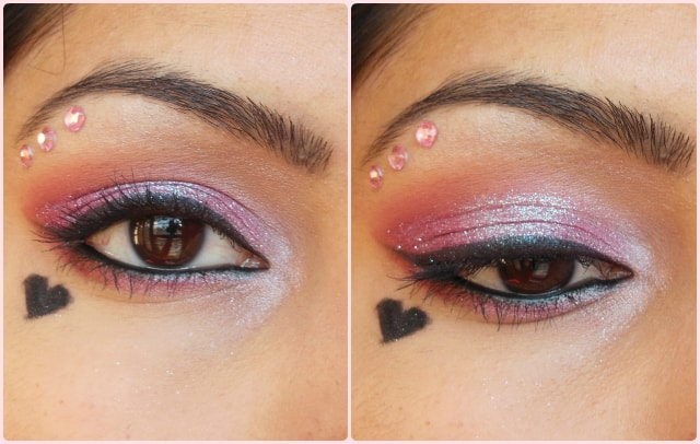 Glittery Pink Eye Makeup EOTD