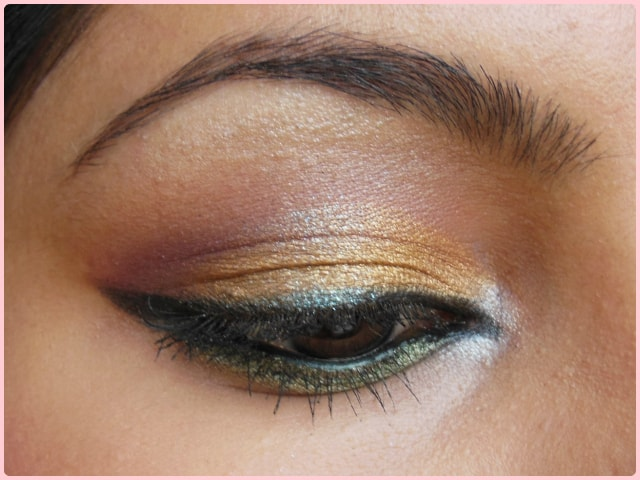 Golden Festive Eye Makeup Look