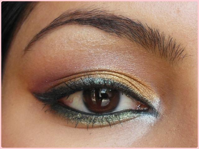 Golden Festive Eye Makeup