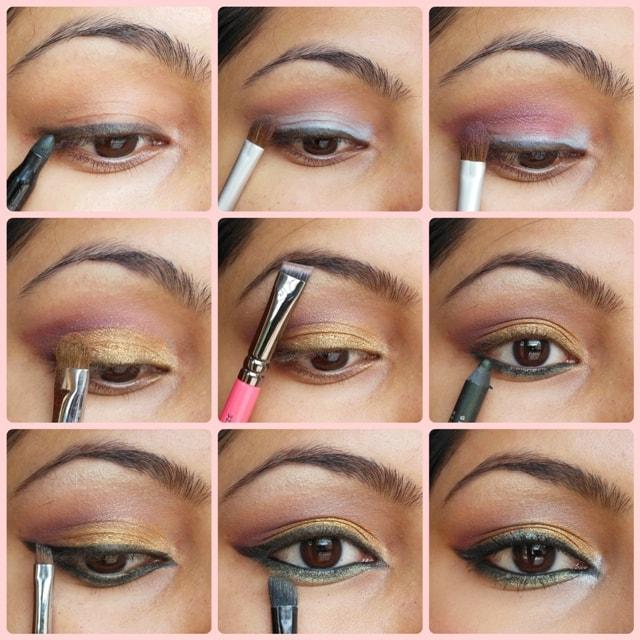 Golden Festive Eyes - Eye Makeup Tutorial