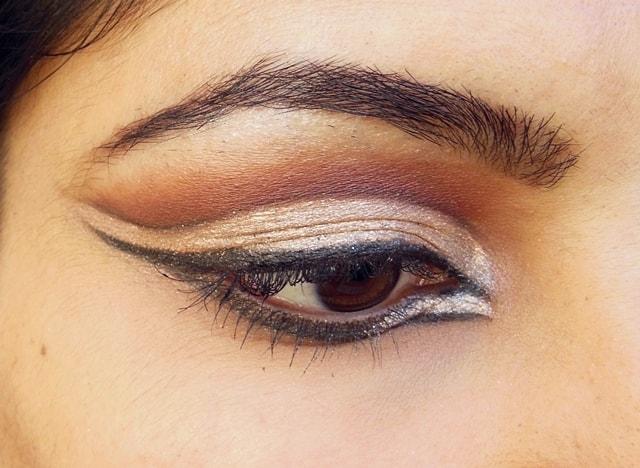 Intense Cut Crease Champagne Eye Makeup