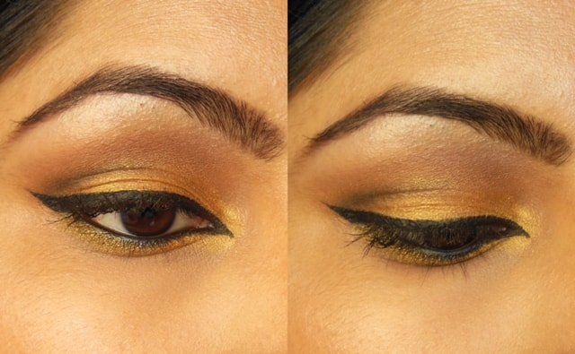 Luxie Beauty Gold Eye Shadow EOTD