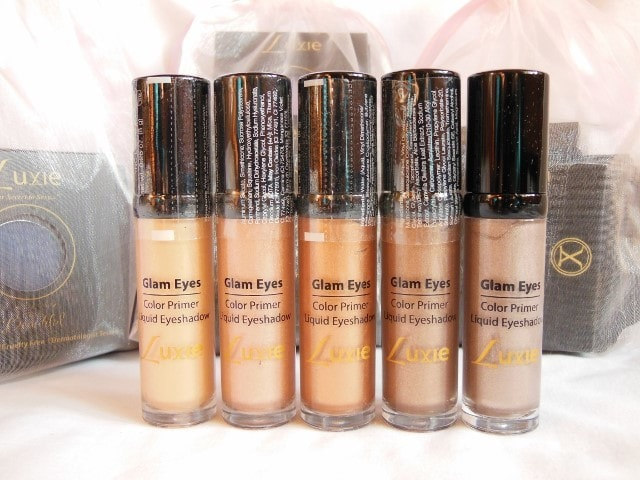 Luxie Glam Eyes Color Primer Liquid Eye Shadows