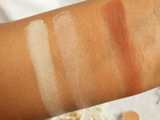 Luxie Warm Neutral Eye Shadows 105, 111, 164, 300 Swatches 1