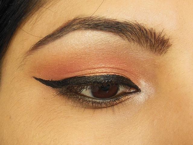 Makeup Geek Mango Tango and Cosmopolitan Eye Shadow Look