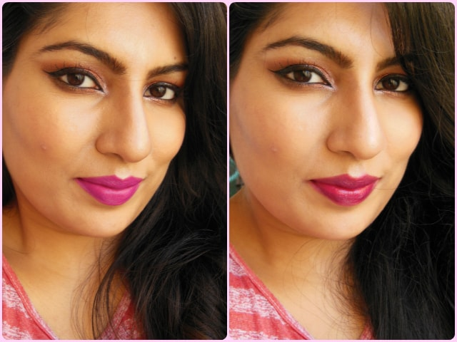 Metallic Copper eyes with Berry  Red or Fuchsia Purple Lips