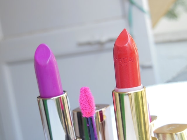 My Color Obsession L'Oreal Color Riche Lipsticks In Red and Pink