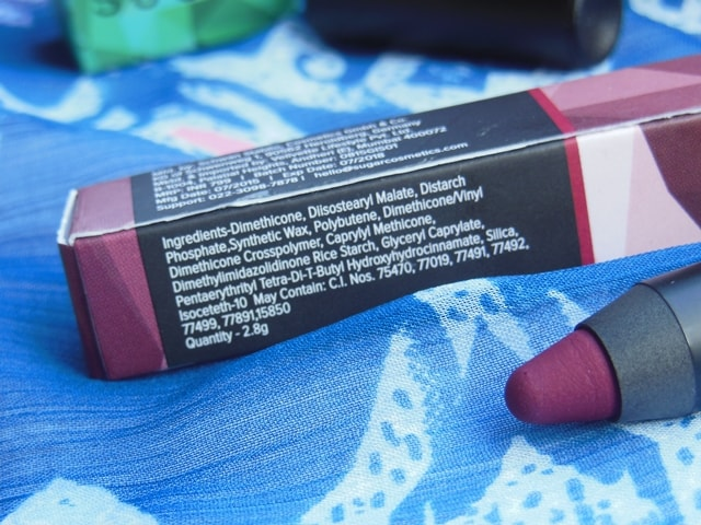 Sugar Matte As Hell Crayon Lipstick Poison Ivy  Ingredients
