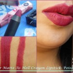 Sugar Matte As Hell Crayon Lipstick in Poison Ivy Look