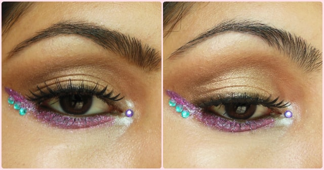 Warm Brown eyes with Pop of Pink