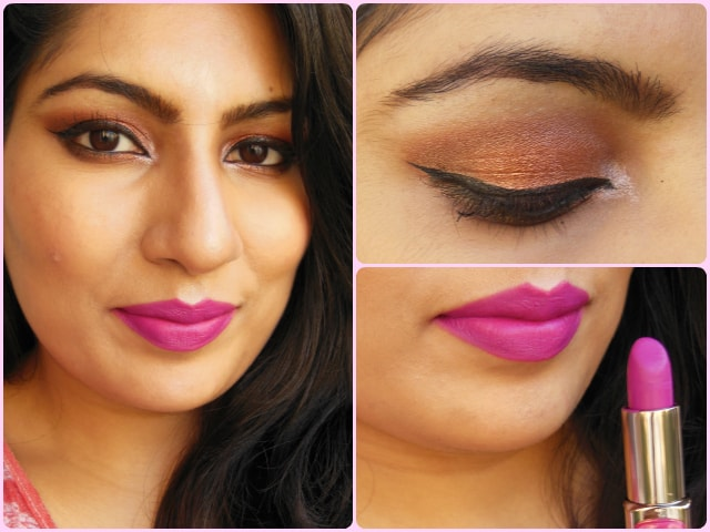 What Am I Wearing Today - Metallic Eyes and Fuchsia Purple Lips