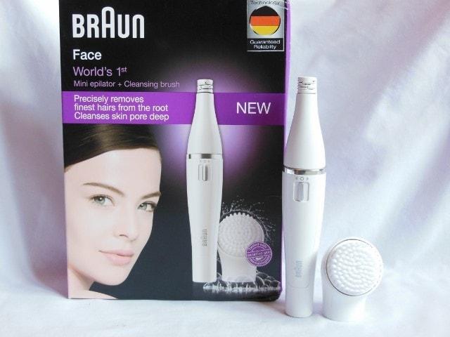 Braun Face Mini Epilator with Cleansing Brush 810