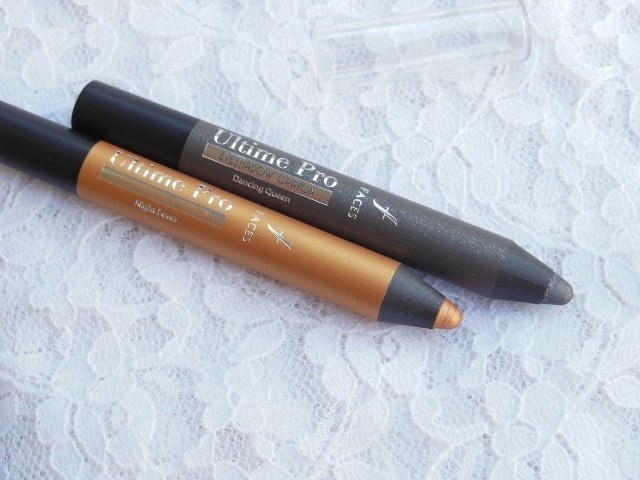 Faces Ultime Pro Eye Shadow Crayons in Night Fever and Dancing Queen