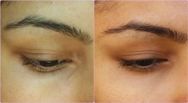 LiLash Demi Purified Lash Serum Before and after