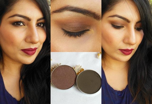 Luxie Beauty Dark Brown Eye Shadow 302, 104 FOTD